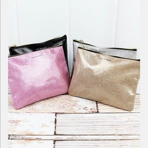 Black Glitter Make Up Bag- BLACK